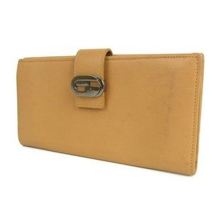 Authentic GUCCI Interlocking Leather Double Snap Bifold Wallet Purse Brown